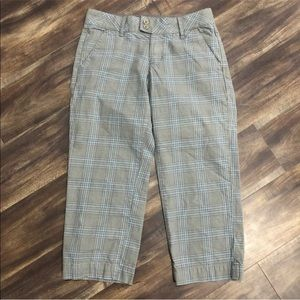 Vans plaid cropped pants size 1 juniors